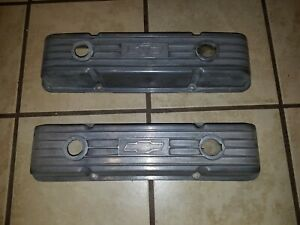 Vintage Small Block Chevy Sbc Classic Chevrolet Logo Valve Covers Hot Rod Rat