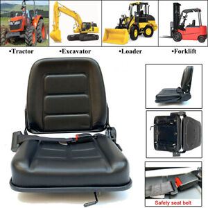 Universal Seat For Tractor loader excavator forklift Black Waterproof Pvc Safety