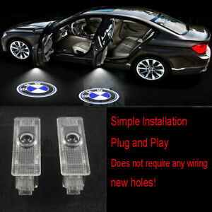 4x Led Projector Logo Ghost Shadow Car Door Light Lamp For Bmw E60 E61 E70 E90