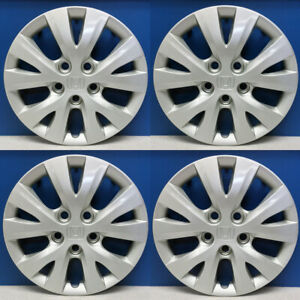 2012 2015 Honda Civic 55091 5 V Spoke 15 Hubcaps 44733 Tr0a01 Refinished Set