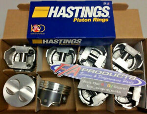 Ford 289 302 Engines 040 Over Coated Hypereutectic Pistons Moly Ring Kit