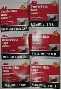 Ace 55375 Double stick Tape 1 2in X 18ft Qty 6