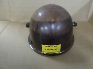 Vintage Msa Protective Hat Cap Brown Hard Hat