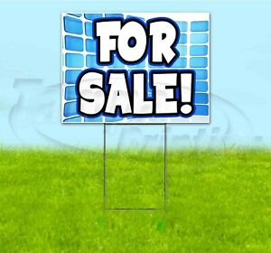 For Sale 18x24 Yard Sign With Stake Corrugated Bandit Usa Business Deals