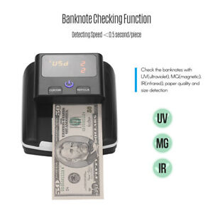 Bill Detector Counter Currency Cash Banknote Checking Uv mg ir Detection U2e6