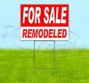 For Sale Remodeled 18x24 Yard Sign With Stake Corrugated Bandit Usa Business