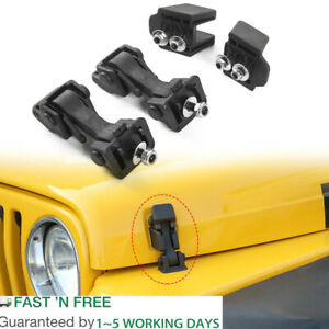 Hood Latch Hood Lock Catch Hood Latches Catch Kit For Jeep Tj Wrangler 1997 2006