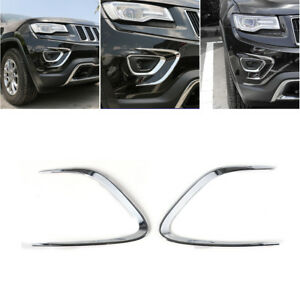 Front Fog Light Lamp Bumper Protector Cover Trim For Jeep Grand Cherokee 2014