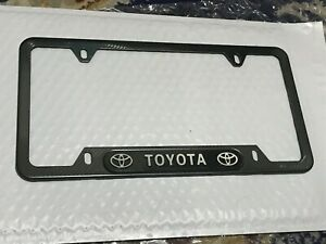Toyota Brand New License Frame Plate Stainless Steel Carbon Fiber Look Camry Usa