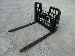 48 Adjustable Hydraulic Sliding Walk Through Pallet Fork Set Skid Steer Loader
