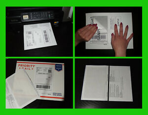 100 Self Adhesive Mailing Shipping Labels W Tear Off Paper Receipt Paypal Ebay
