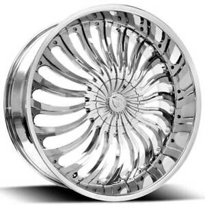 4 20 Borghini Wheels B24 Chrome Rims b12