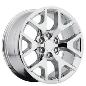 4 20 Gmc Sierra Wheels 288 Chrome Oem Replica Rims b3