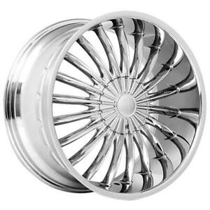 4 20 Velocity Wheels Vw11 Chrome Rims b12