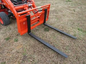 42 2 200 Pound Pallet Forks Attachment Fits Sub Compact Tractor Loader Qa