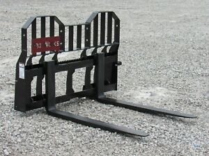 48 Virnig V60 Wide Rail Pallet Forks Attachment 5 500 Lb Fits Skid Steer