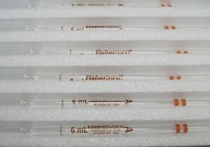 Fisher Brand 136502g 6ml Pipet Volumetric Color coded 12 In A Box Class a