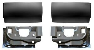 Inner Outer Rear Door Bottom Skin Kit For 99 16 Ford F250 Super Cab Pickup