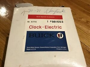 1970 1971 1972 Nos Buick Gs Stage I Ii Oem Clock New Old Stock