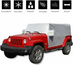 Car Weatherproof Cover Protect From Snow Rain Sunshine For Jeep Wrangler Jk Jl