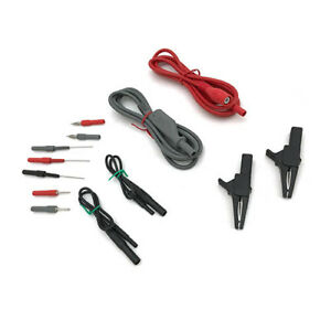 Fluke Stl90 Industrial Shielded Test Lead Set red Black And Gray