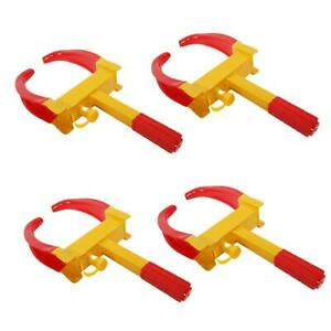 4pcs Of Wheel Lock Clamp Boot Tire Claw Auto Car Truck Rv Boat Anti Theft Towing