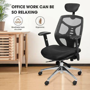 Ergonomic Executive Mesh Chair Swivel Mid back Office Chair Computer Chair Black