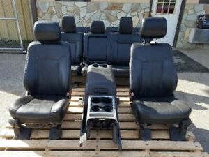 11 16 Ford F250 F350 Crew Cab Leather Bucket Seats Interior Ebony Front Rear