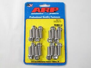 Arp 400 1112 Stainless Header Bolts 3 8 Hex Head Set Of 16 1 00 Uhl Bbc Ford