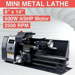 Digital 8x14 Mini Metal Lathe Metalworking Woodworking 600w Spindle Dc Motor