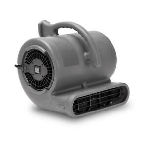 B air Floor Blower Fan 1 2 Hp Stackable Carpet Dryer 3 speed Grounded Gray
