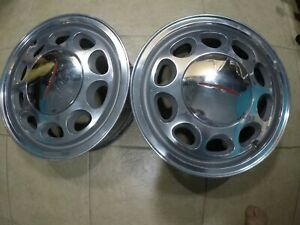79 93 Mustang Capri Thunderbird 10 Hole Wheels Rims Polished Pair Of Two