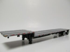 Dcp 1 64 Scale Transcraft Step Deck Trailer Silver Deck With Black Frame