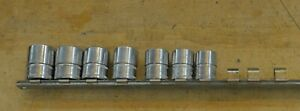 Lot 7 Piece Snap On Tools 3 8 Drive 6 Point Metric Set 13mm 19mm Pre Owned