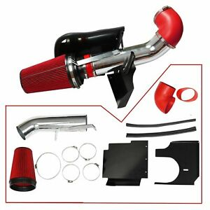 4 Cold Air Intake Kit Head Shield For 99 07 Silverado 1500 4 8l 5 3l 6 0l Red
