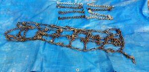 Used 8 24 5 Semi Truck Tire Chains With 8 Repair Links And Crimping Repair Tool