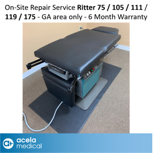 Ritter 75 105 111 119 175 Powered Exam Table On site Repair Service