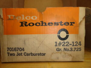 1967 Buick Nos Rochester Two Jet Carb 7016704