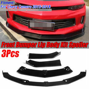 Front Bumper Lip Splitter Lower Spoiler For 2015 18 Chevrolet Camaro Ss V8 Coupe