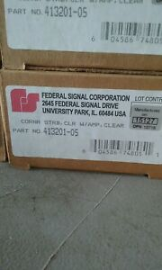 Federal Signal 413201 05 Clear Corner Led Strobe Tube W Amp Connector