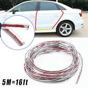 16ft Car Door Edge Trim Molding Rubber Guard Scratch Protector Clear Strip Decor
