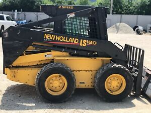 2000 New Holland Ls180 Skid Steer Loader W 2 Speed Inclosed Cab Only 762 Hours