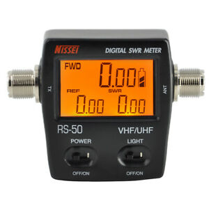 Rs 50 Digital Swr watt Meter Nissei 125 525mhz Uhf vhf M Type Connector For Tyt