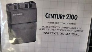 Century 2100 Tens Unit W Case And 3 Boxes Of Reusable Polymer Electrodes