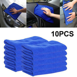 10pcs Microfiber Cleaning Cloth No Scratch Rag Car Polishing Detailing Towel