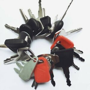 24 Keys Construction Ignition Heavy Equipment Key Set Cat Case Volvo Deere Jcb
