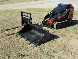 2013 Toro Dingo Tx525 Diesel Mini Skid Steer With Bucket And Forks Ship 500
