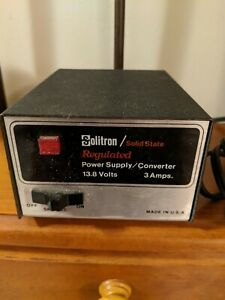 Vintage Solitron Solid State Regulated Power Supply Converter 13 8 Volts 3 Amps