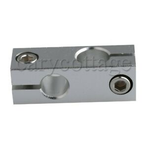Double Tube Cross Linear Shaft Support Connectors 4 6x1 6x1 6cm For 12mm Axis
