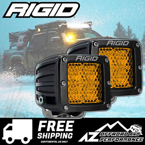 Rigid Industries D series Pro Led Light Bar Pods Amber Diffused Pair 90151